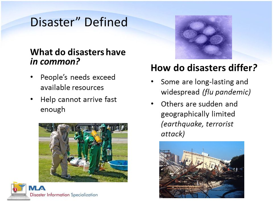 Disaster Defined How do disasters differ