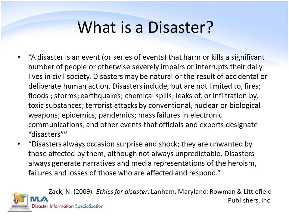 What is a Disaster