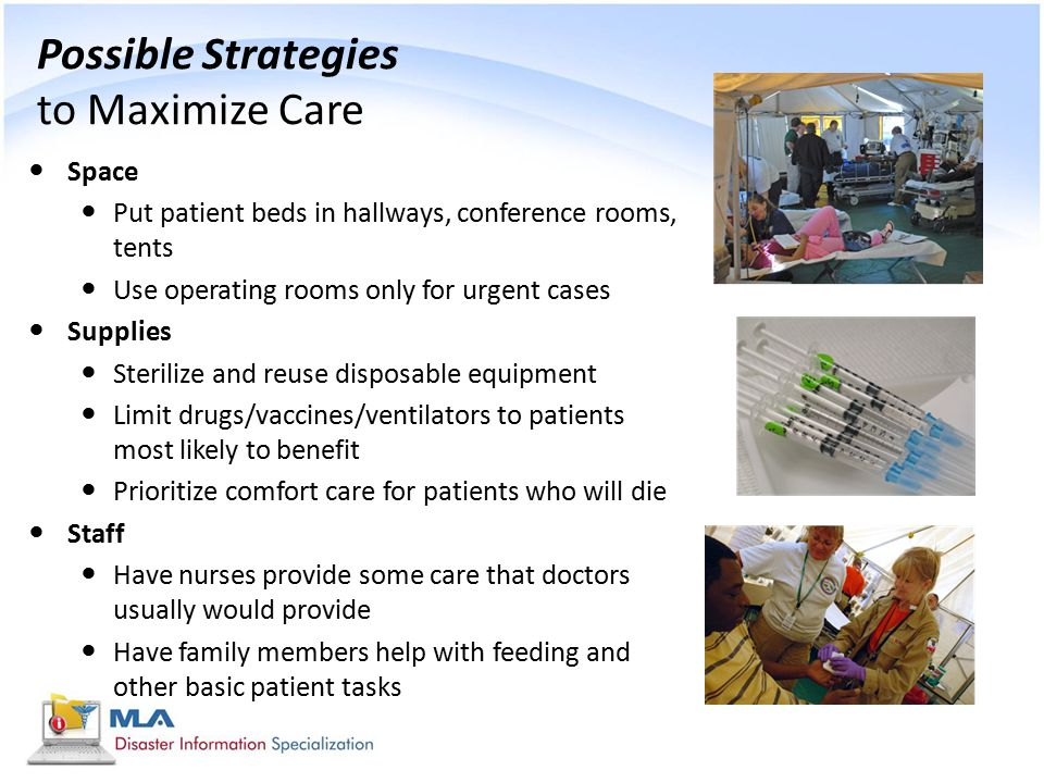 Possible Strategies to Maximize Care