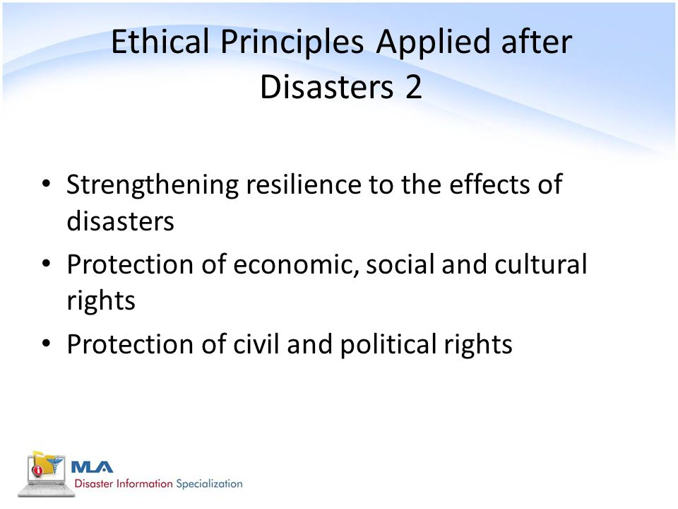 Ethical Principles Applied after Disasters 2