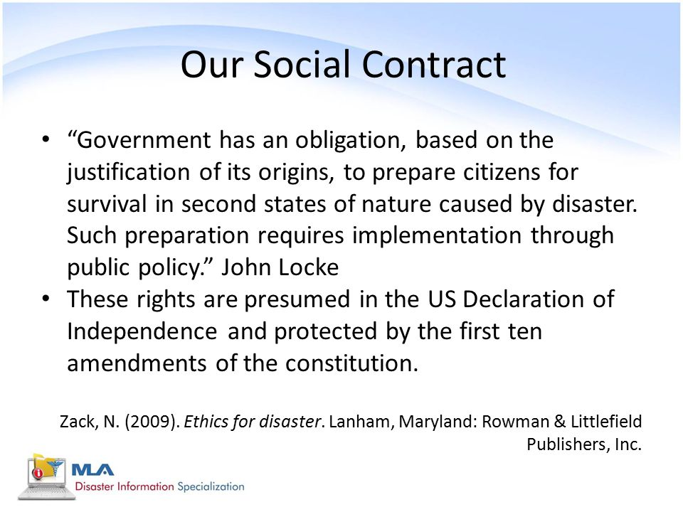 Our Social Contract
