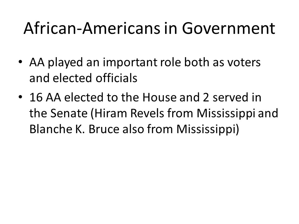 African-Americans in Government
