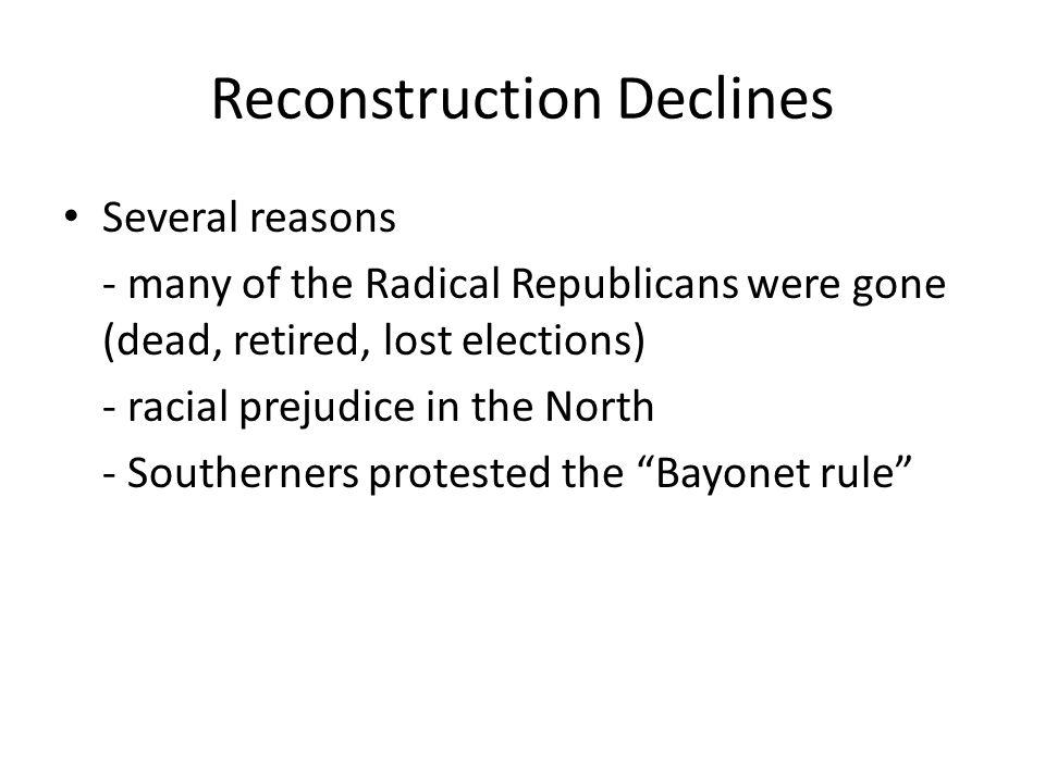 Reconstruction Declines