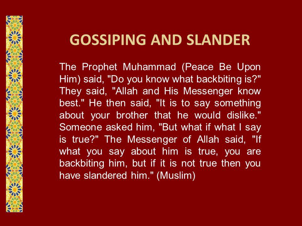 GOSSIPING AND SLANDER