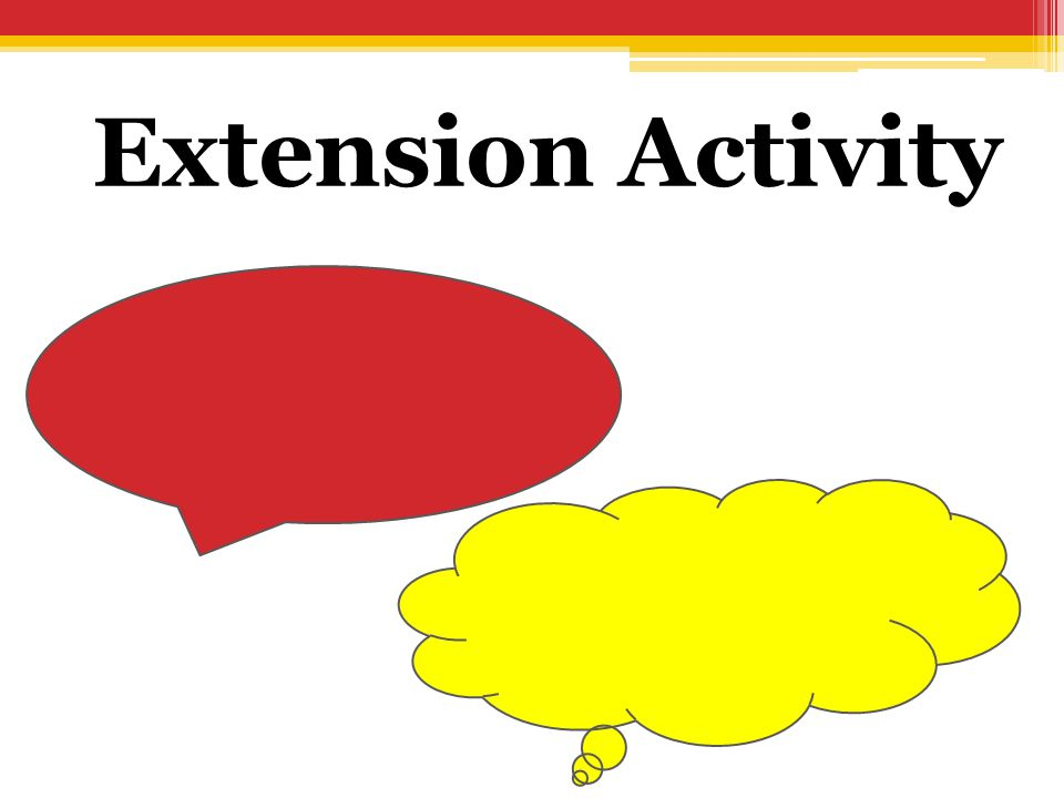 Extension Activity Let the student finish the bubbles in Microsoft Word 2010.
