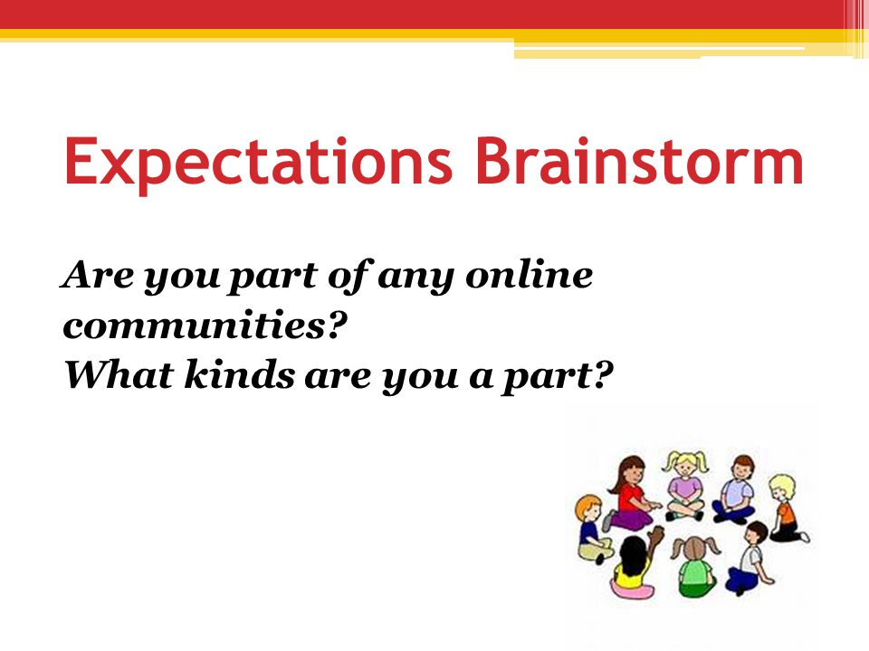 Expectations Brainstorm