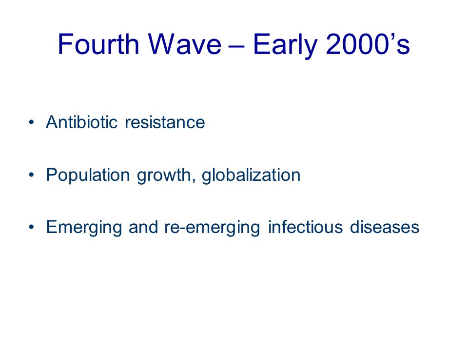 Fourth Wave – Early 2000's Antibiotic resistance