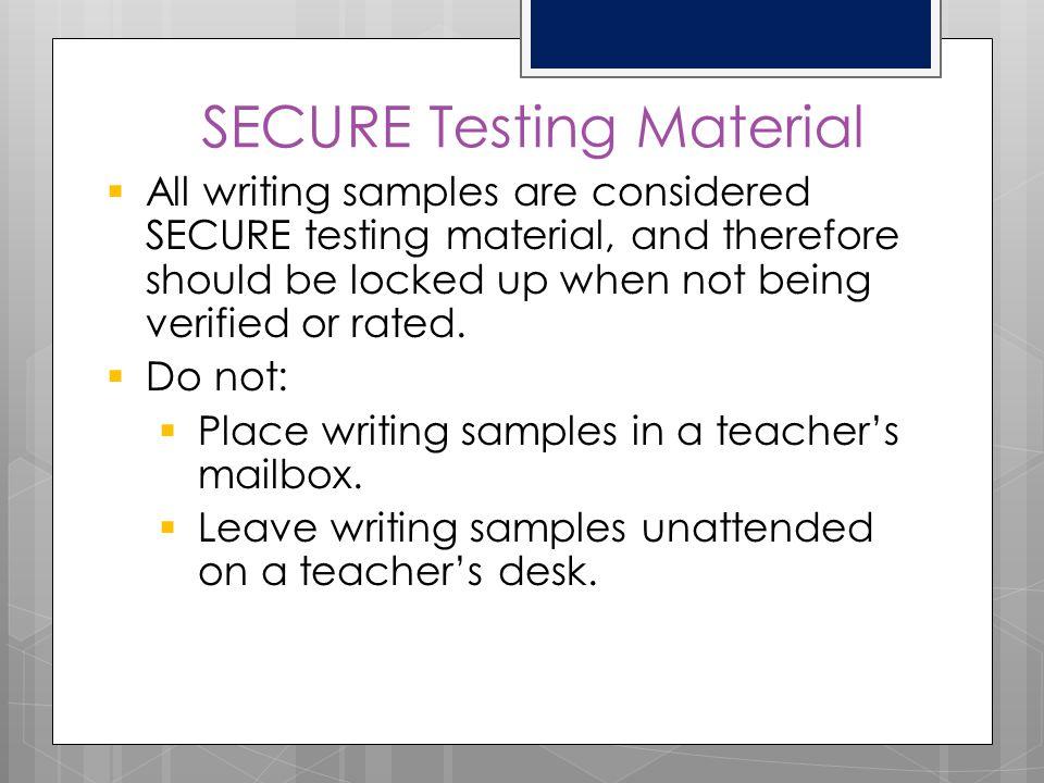 SECURE Testing Material