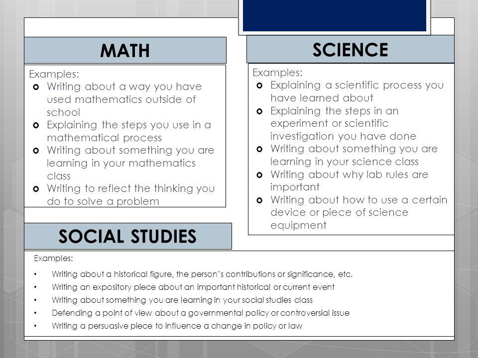 math science Social studies