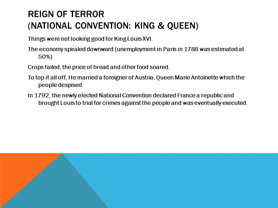 Reign of Terror (National Convention: King & Queen)