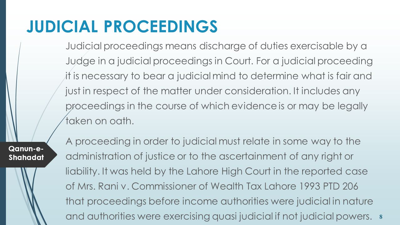 JUDICIAL PROCEEDINGS