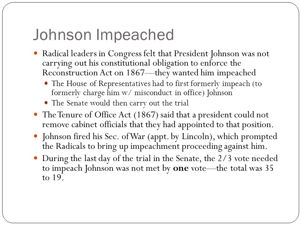 Johnson Impeached