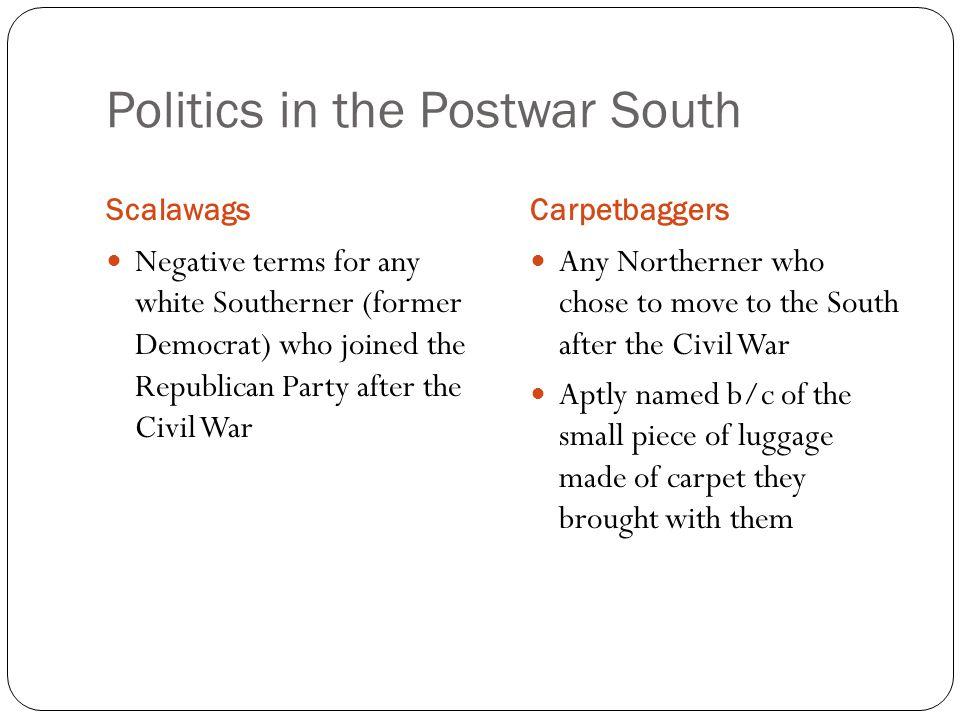 Politics in the Postwar South