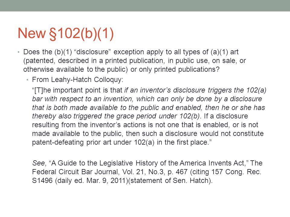 New §102(b)(1)