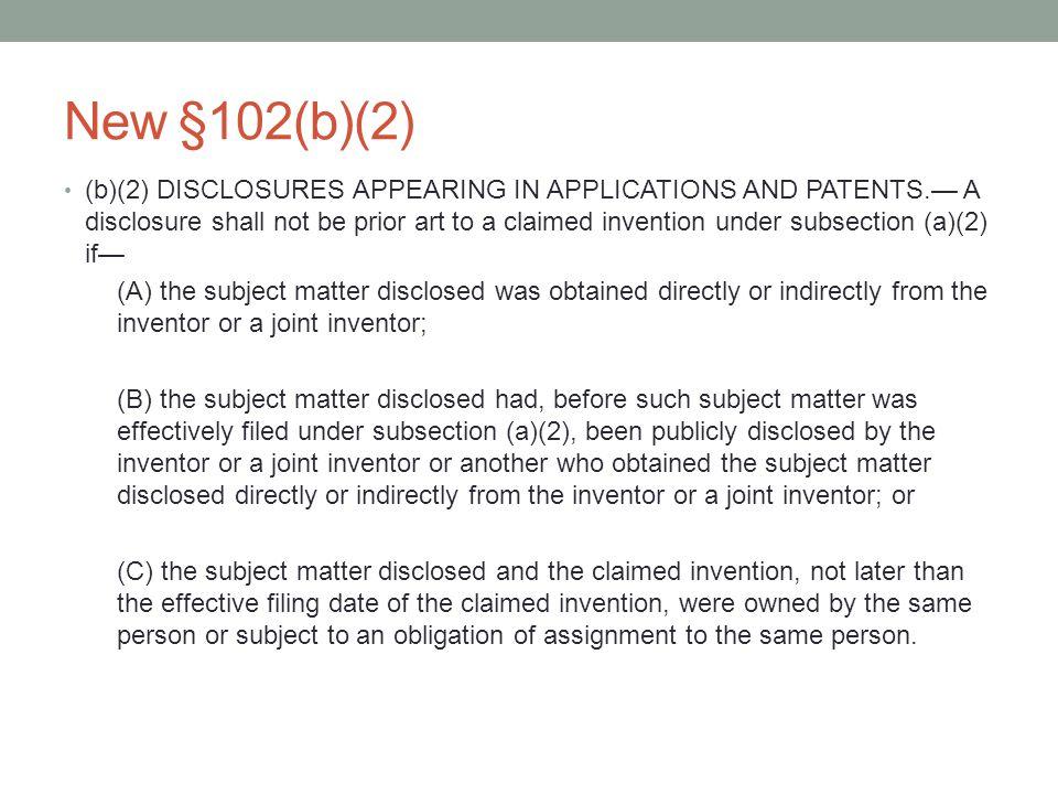 New §102(b)(2)