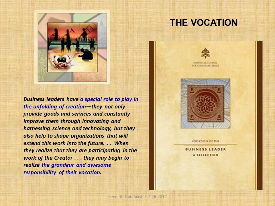 THE VOCATION