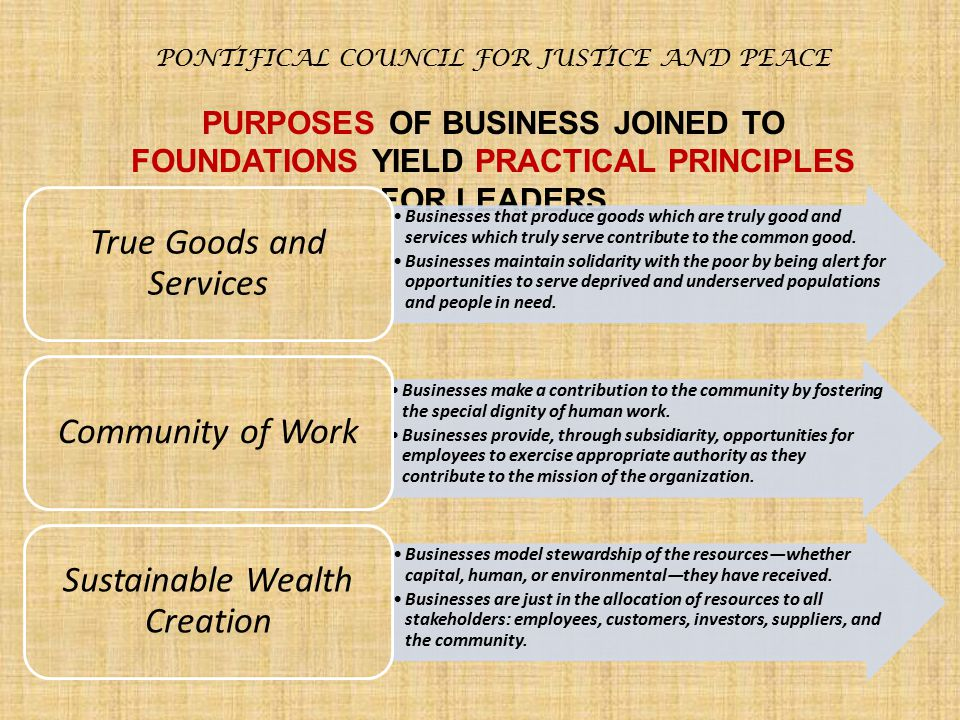 True Goods and Services Community of Work Sustainable Wealth Creation
