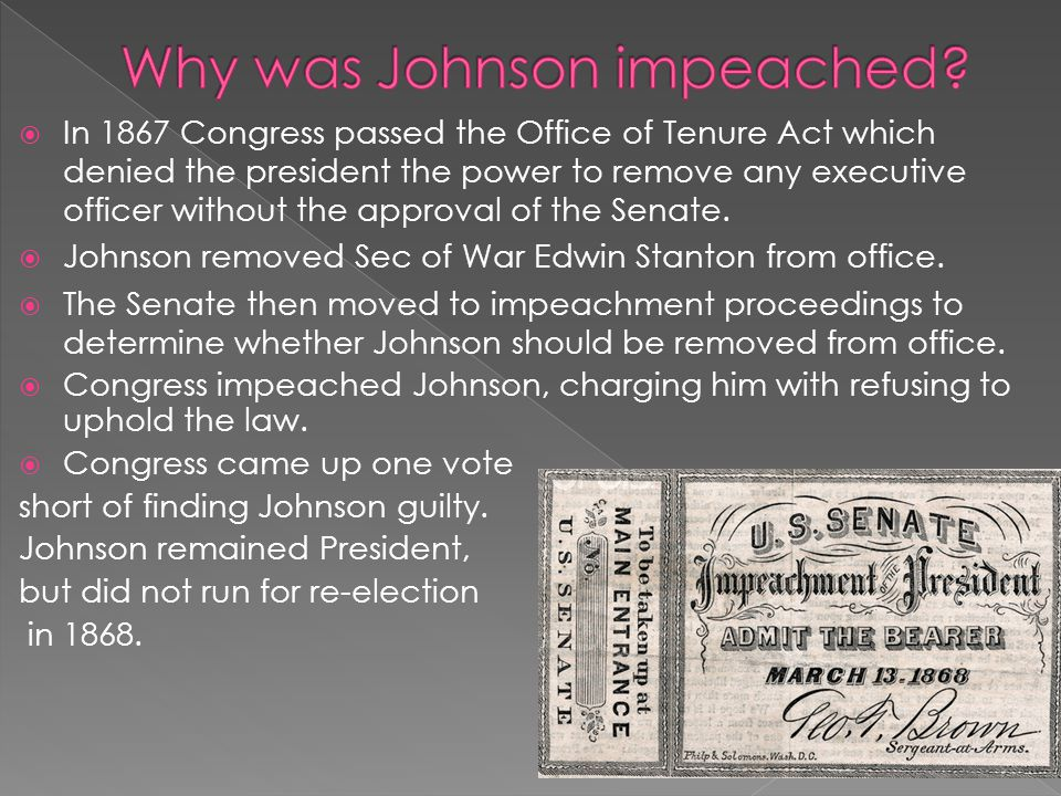 Why was Johnson impeached