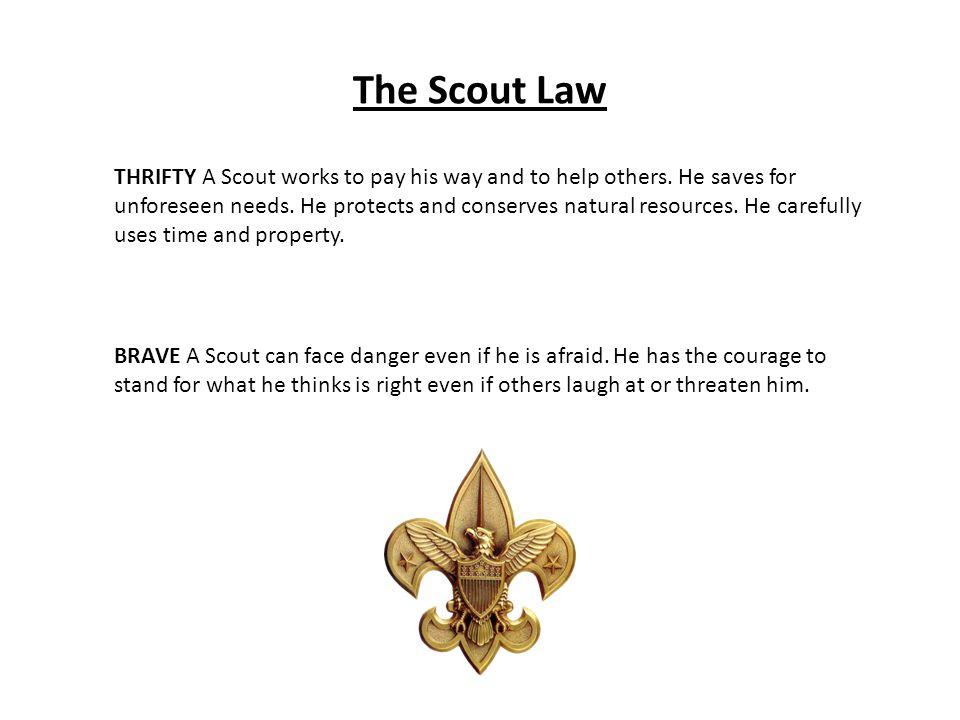 The Scout Law