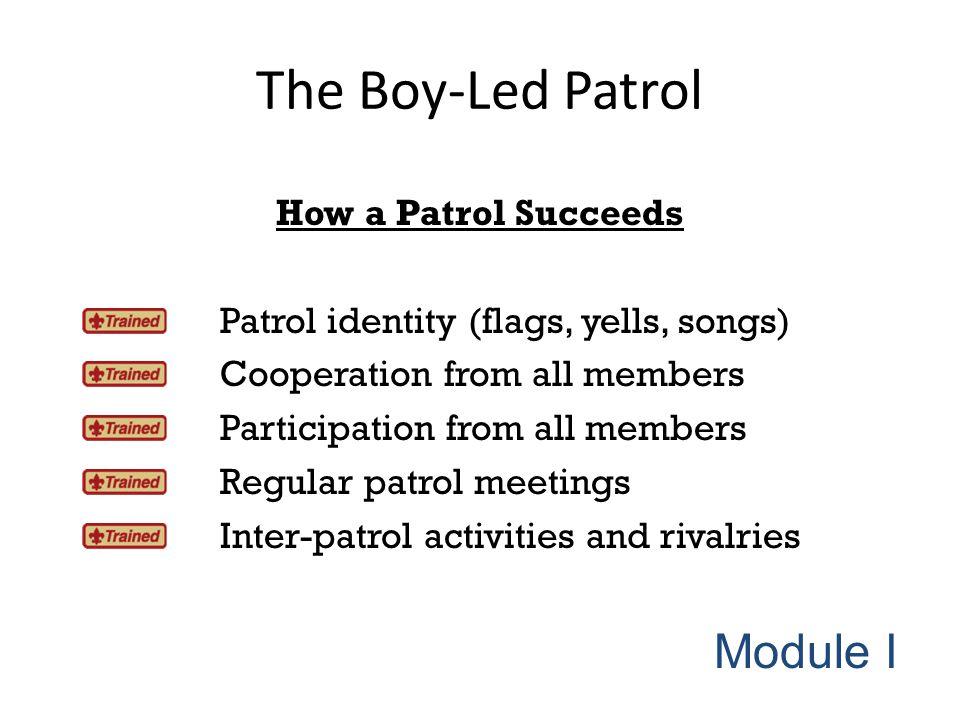 The Boy-Led Patrol Module I How a Patrol Succeeds
