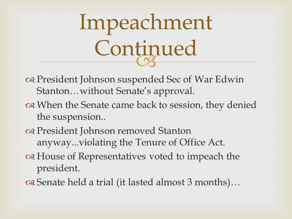 Impeachment Continued