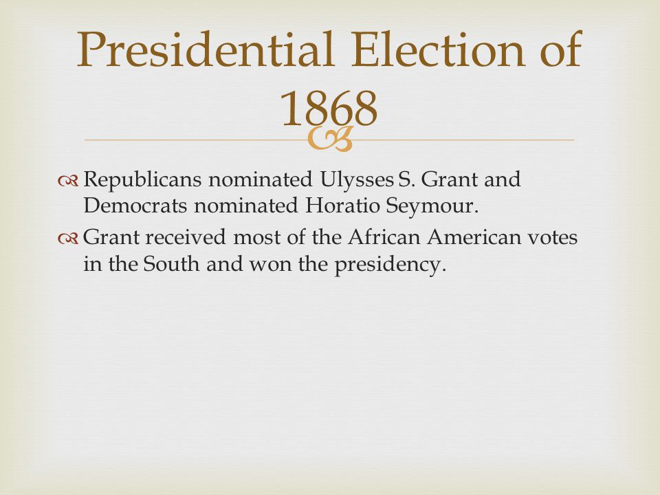 Presidential Election of 1868