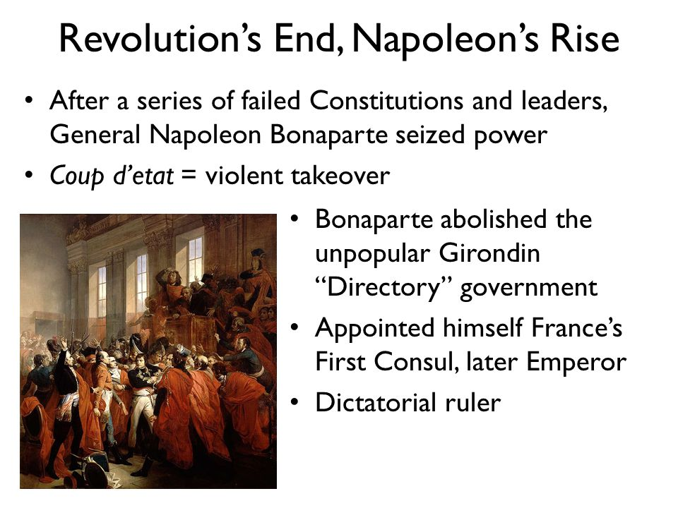 Revolution's End, Napoleon's Rise