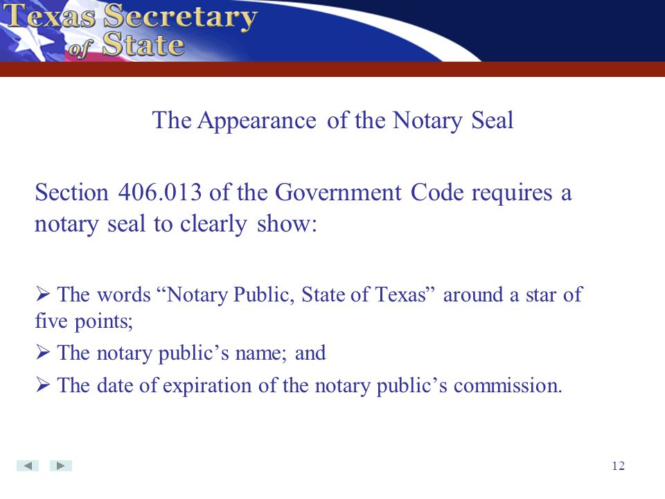 The Appearance of the Notary Seal