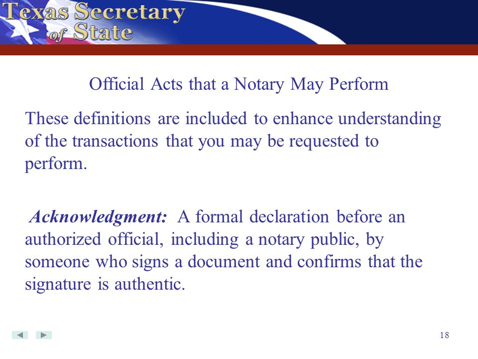 Official Acts that a Notary May Perform