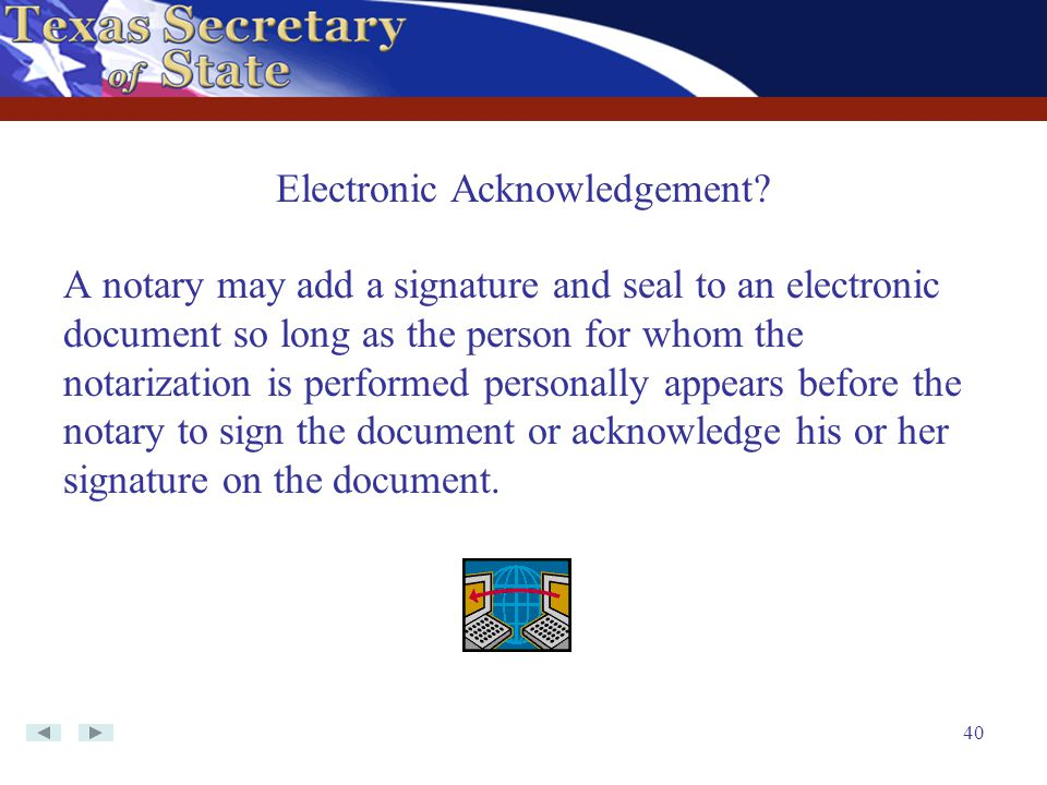 Electronic Acknowledgement