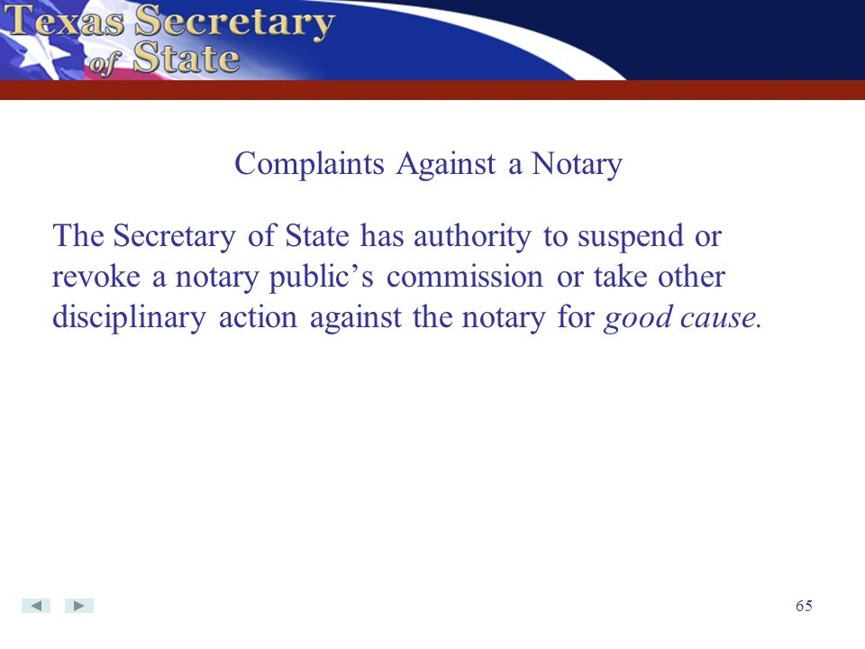 Complaints Against a Notary
