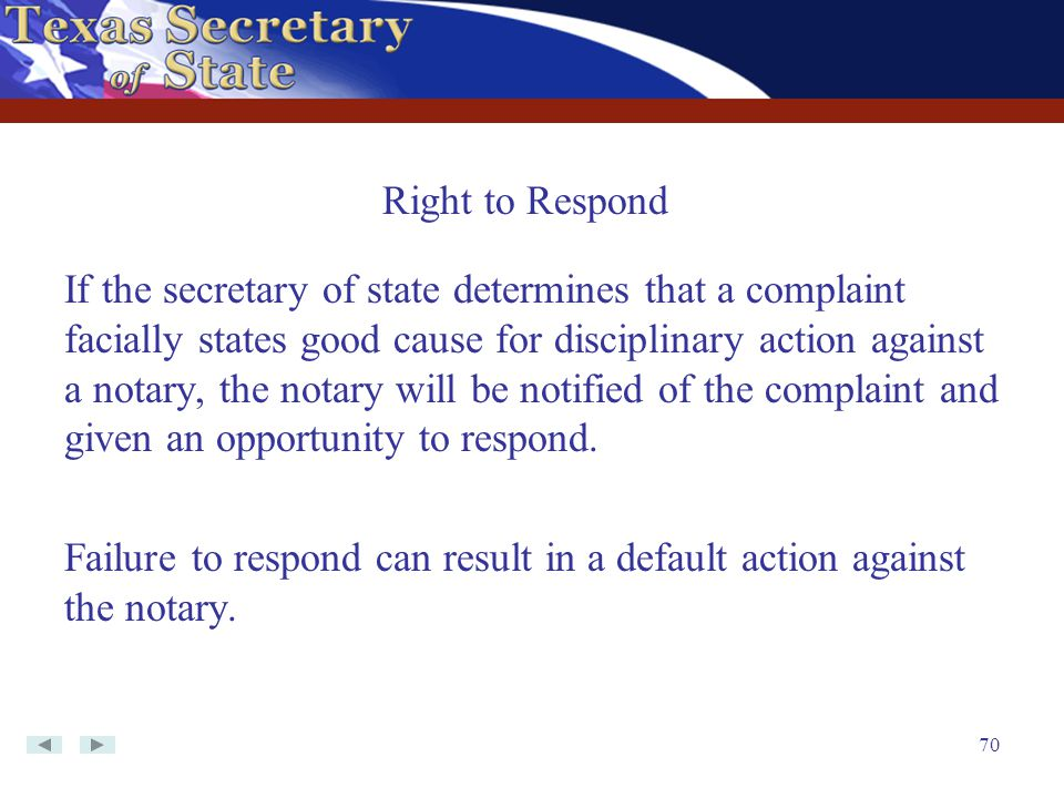 Right to Respond