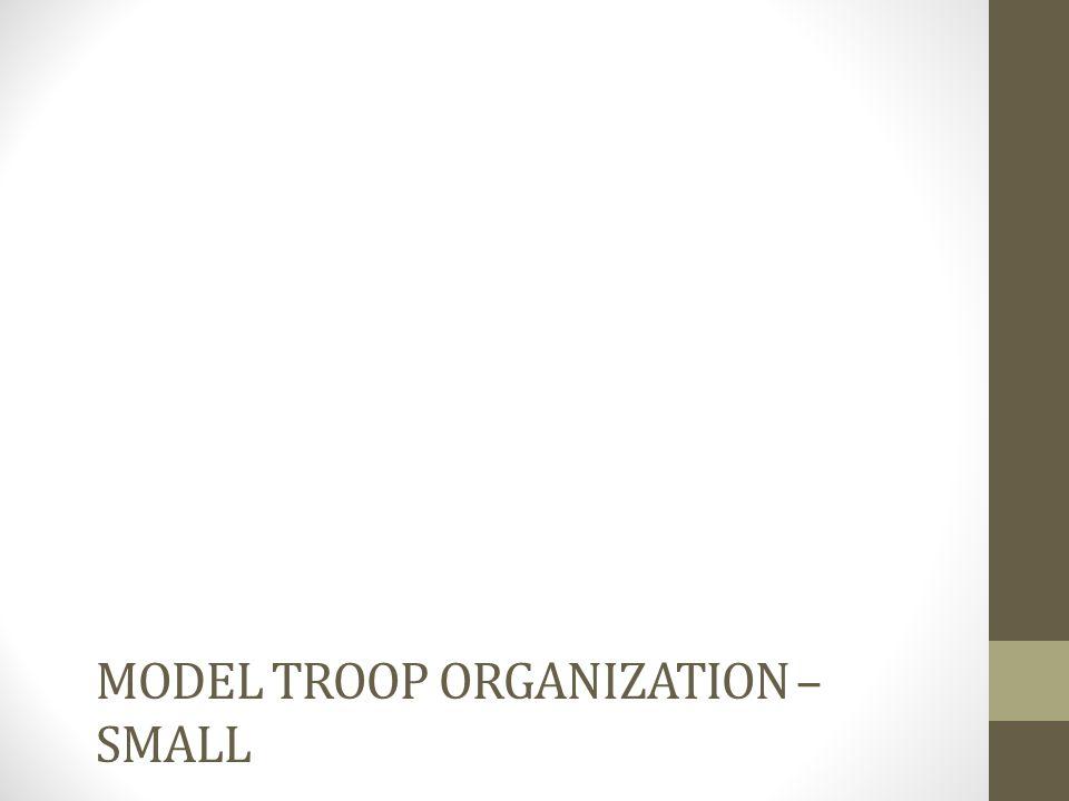 Model Troop organization – small