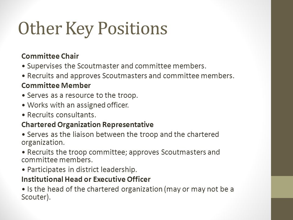 Other Key Positions