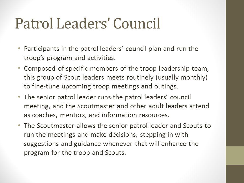 Patrol Leaders' Council