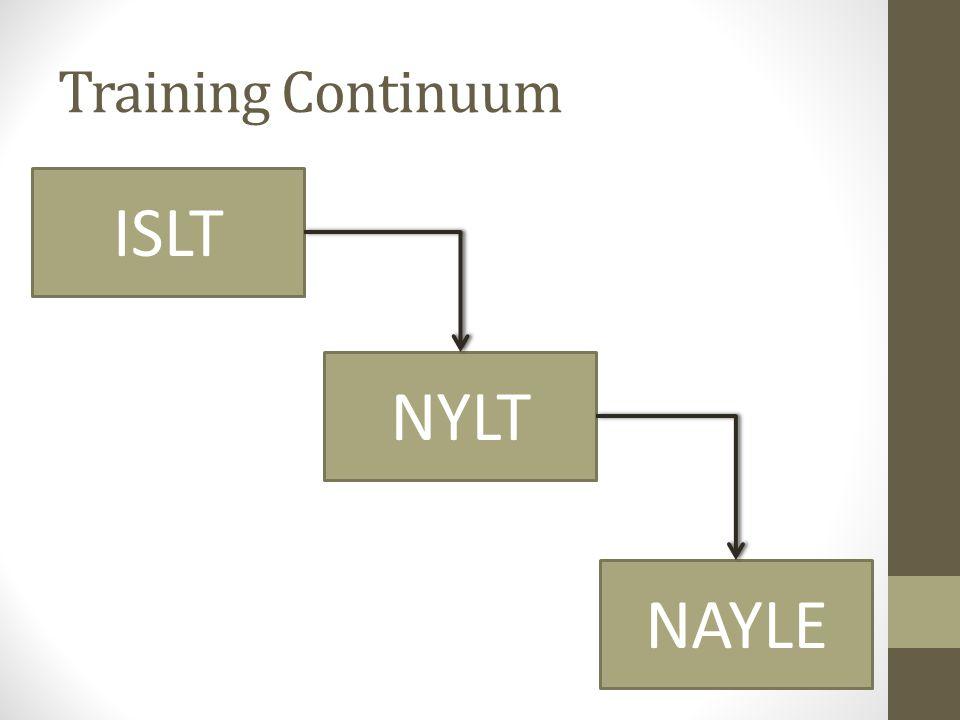 Training Continuum ISLT NYLT NAYLE