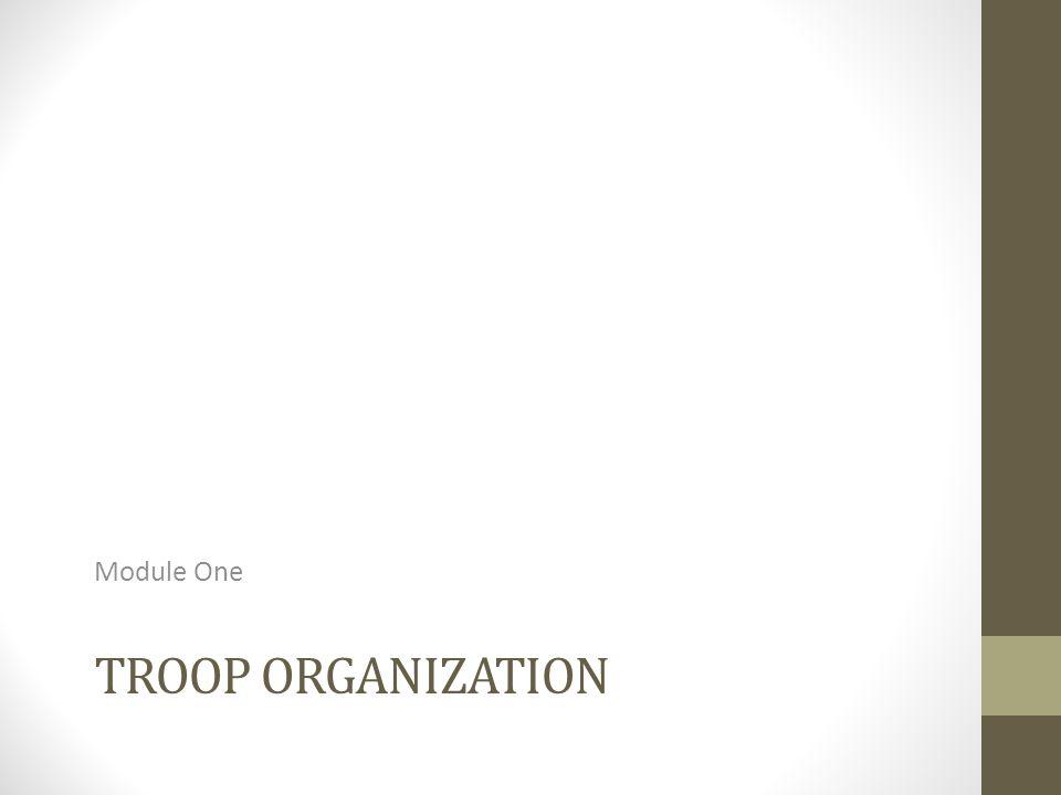 Module One Troop Organization