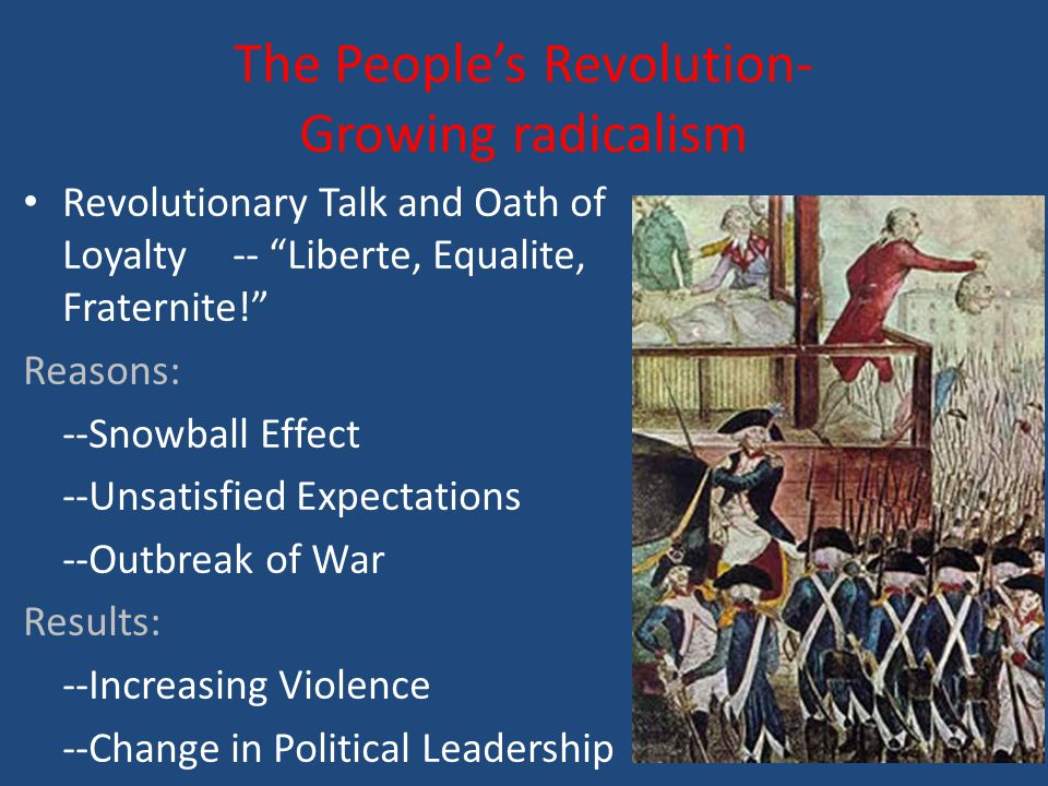 The People's Revolution- Growing radicalism