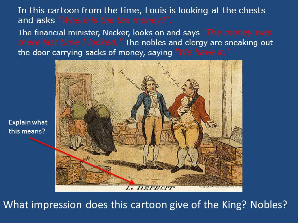 What impression does this cartoon give of the King Nobles