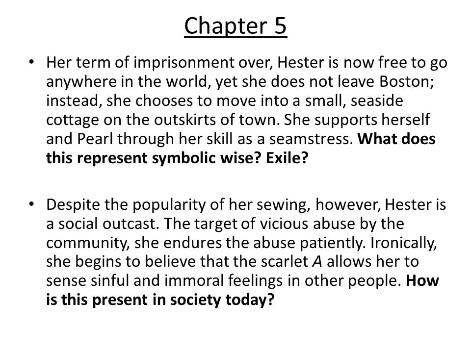 the scarlet letter chapter summaries ppt video online download