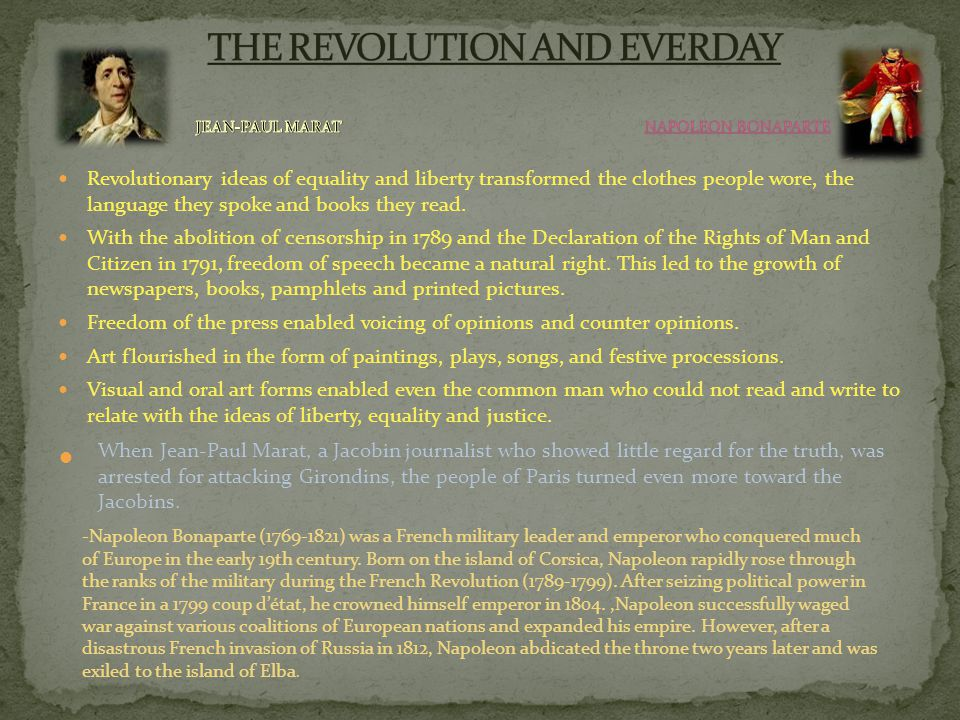 THE REVOLUTION AND EVERDAY