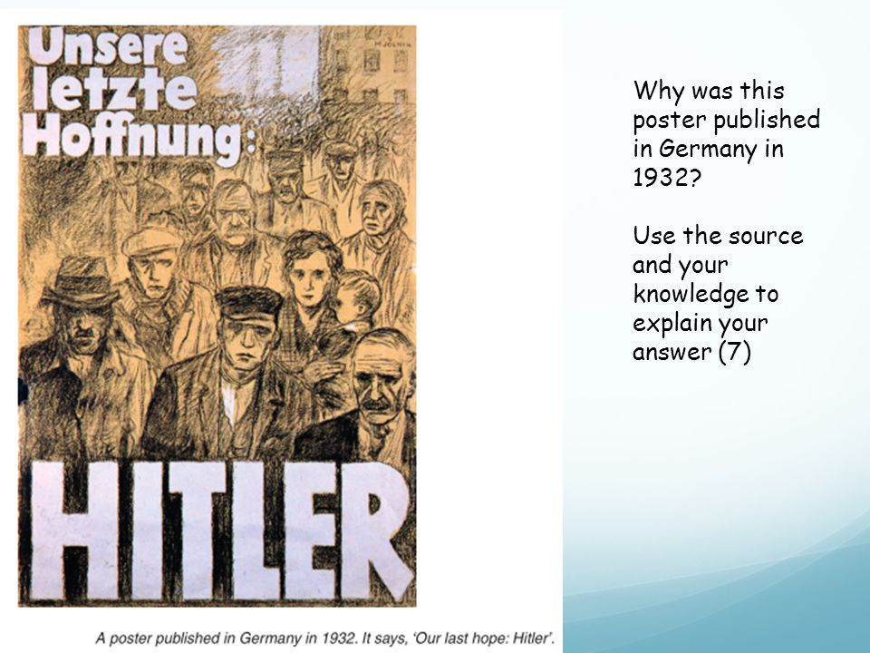 Why was this poster published in Germany in 1932