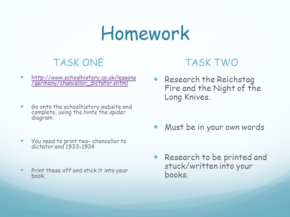 Homework TASK ONE TASK TWO