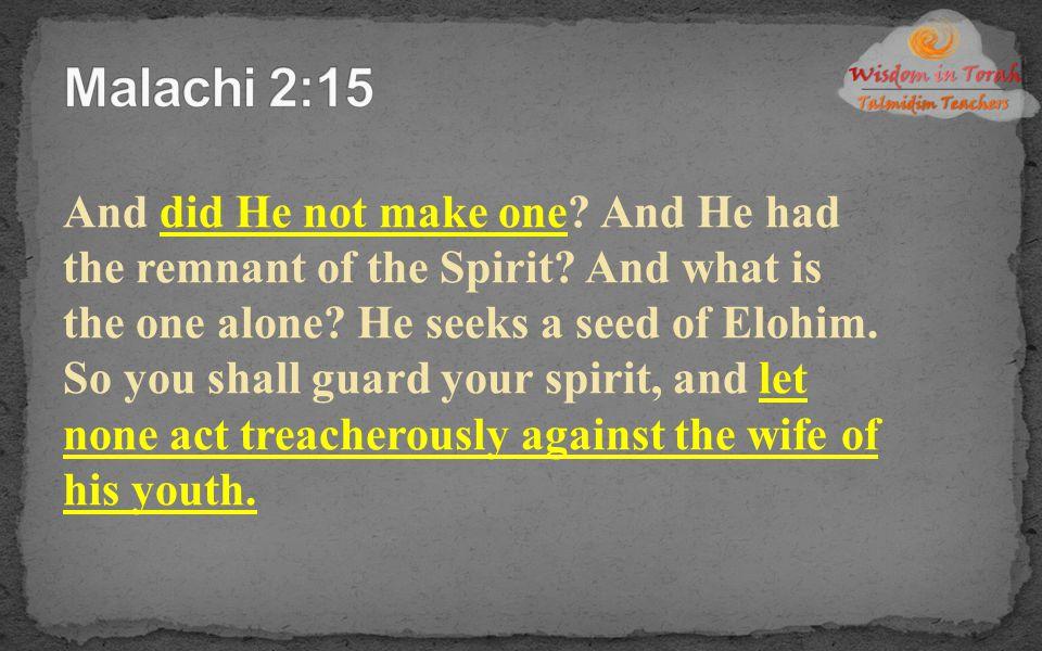 Malachi 2:15