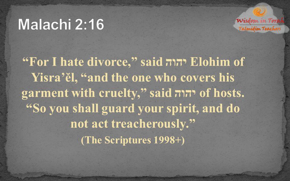 Malachi 2:16