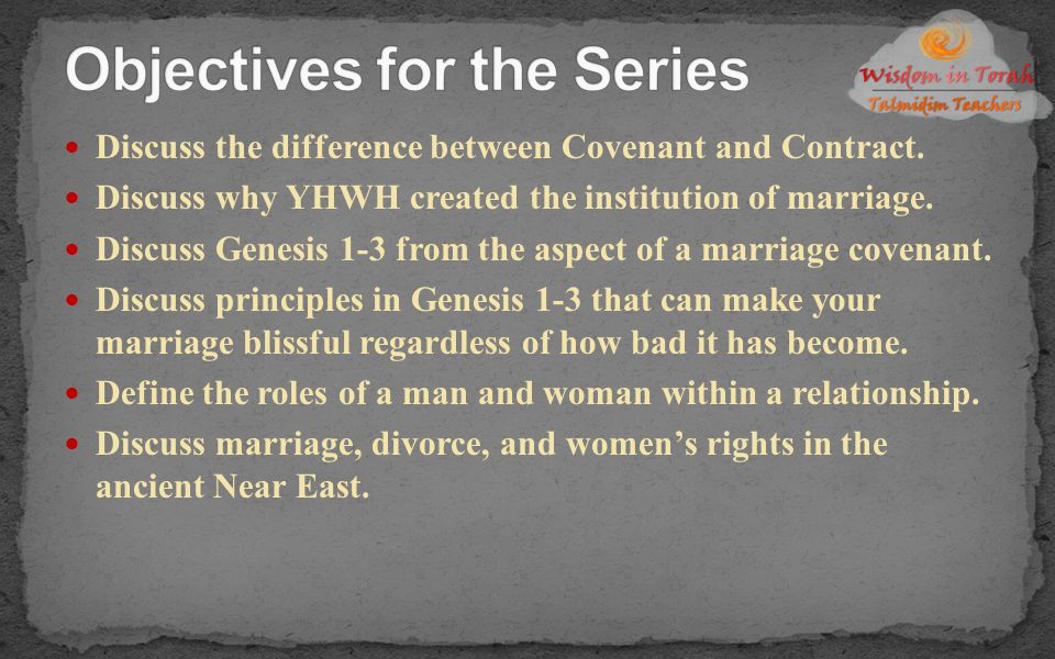 Objectives for the Series
