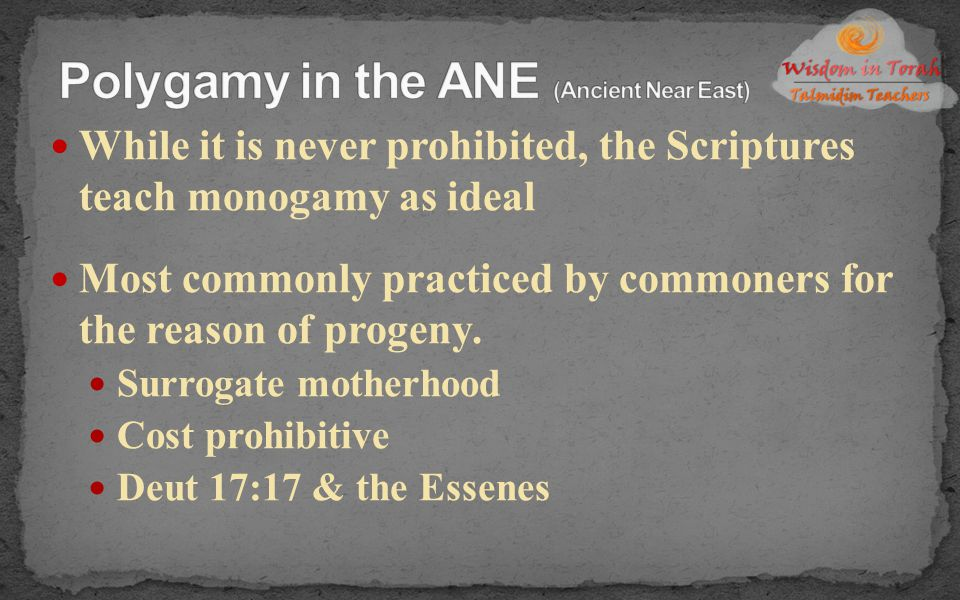 Polygamy in the ANE (Ancient Near East)