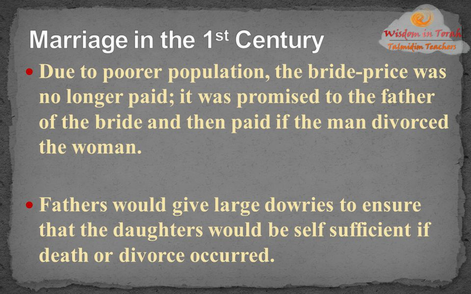 Marriage in the 1st Century