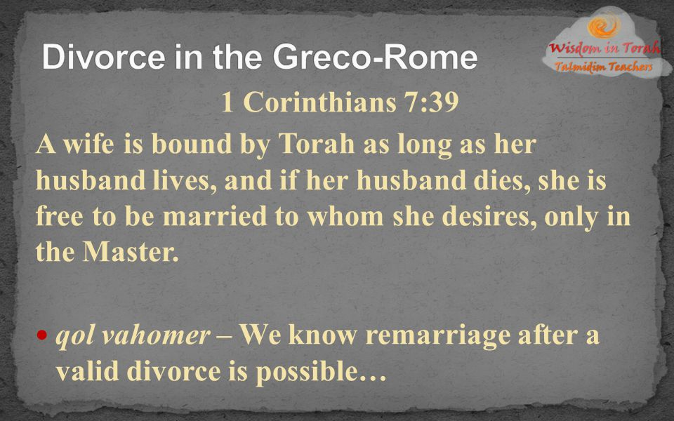 Divorce in the Greco-Rome