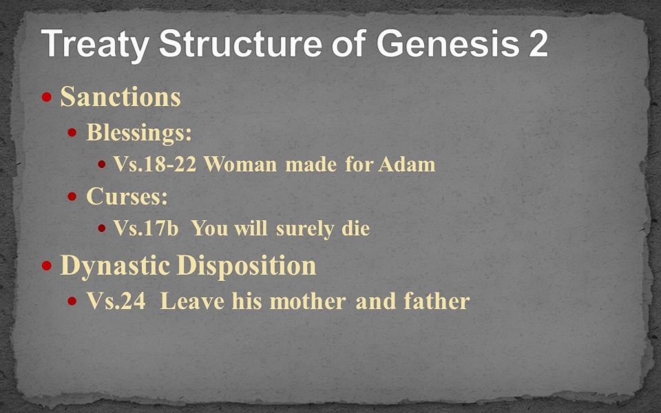 Treaty Structure of Genesis 2